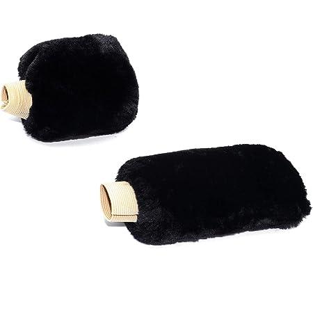 Goliton® Plush Auto Car Handbrake Cover Sleeve Gear Stick Shift Knob Cover Set - Black