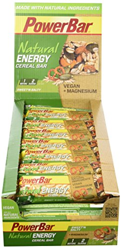 PowerBar Natural Energy Cereal - Barre Céréale Naturelle Nutritive avec Flocons d'Avoine - Vegan - Bretzel - 24 x 40 g