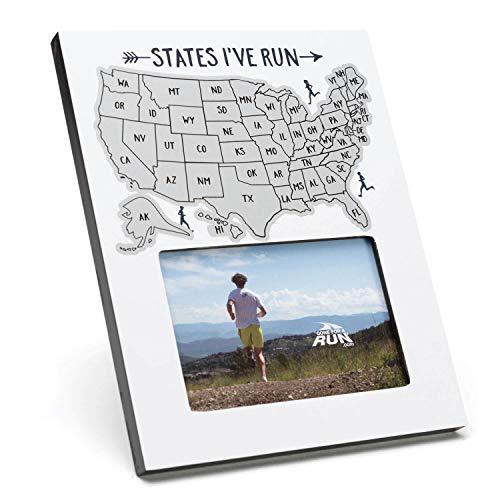 Gone For a Run Scratch Off Photo Frame | States I've Run
