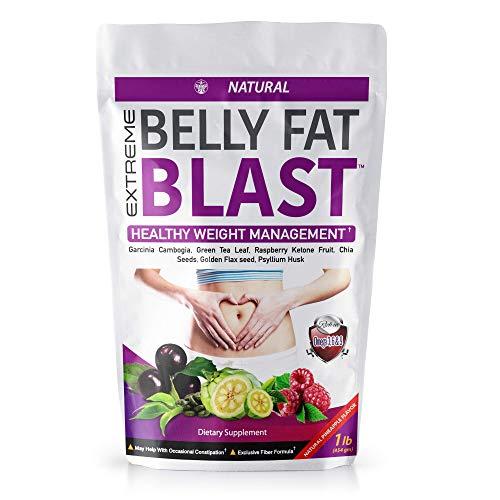 Jamaica Herbal Belly Fat Blast Weight Management Shake with Garcinia Cambogia, Green Tea Leaf, Raspberry Ketone Fruit, Chia Seeds, Golden Flax Seed and Psyllium Husk | Vegan