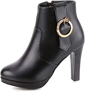 Women Ladies Girls Ankle Boots with Heels,Embellished Waterproof Pointed Toe Wide Width Booties Stiletto Pumps