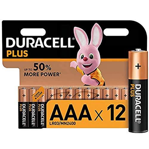 Duracell Plus LR03 Baterie Alkaliczne AAA, 12 Sztuk