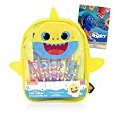 Baby Shark School Bag Bundle ~ Deluxe 8.5' Baby Shark Stationary Kit | Baby Shark Travel Bag With Finding Dory Tattoos! (Baby Shark School Supplies)