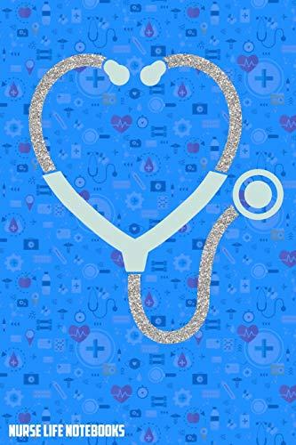 Nurse Life Notebooks: Lined Notebook Graduate Registered Nurses Stethoscope Design