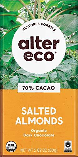 image of Alter Eco Organic 70% Cacao Salted Almond Dark Chocolate