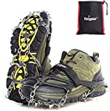 Unigear Ice Traction Cleats Ice Snow Grips Crampons with 18 Shoe Spikes for Walking, Jogging, Climbing and...