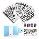 FingerAngel 21Pcs Nail Stamp Plate Set 16Pcs...