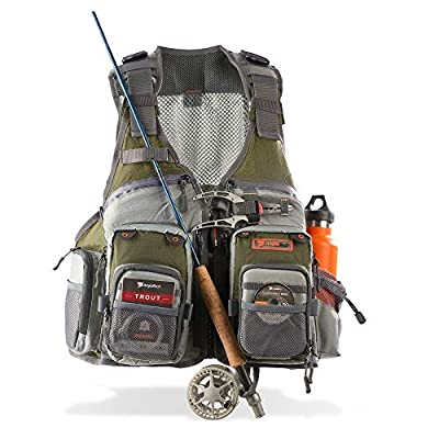Fly Fishing Vest for Anglers Mesh Adjustable for Men and Women