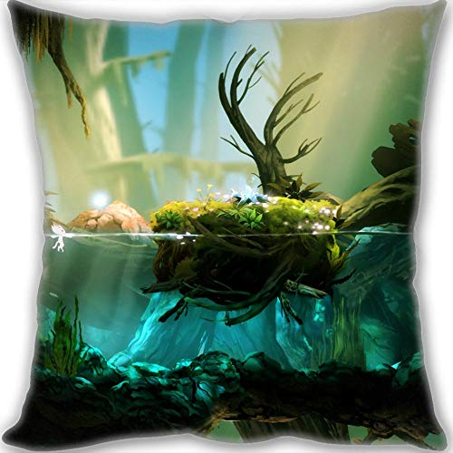 ZHIZIQIU 2019 Ori & The Blind Forest Custom Design Throw Pillow Queen Size Pillow Cushion Case Cover Two Sides Printed 45x45cm(18x18inch) Medium Size 450g(1lb)