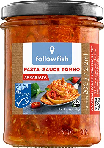 followfish MSC Pasta-Sauce Tonno Arrabiata, 200 g