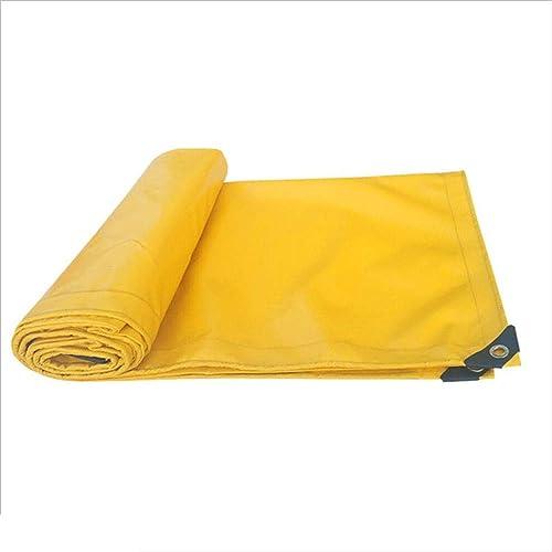 Bache YNN de Prougeection de 500g   m2 Jaune PVC résistant épais imperméable 0.45mm étanche (Couleur   jaune, Taille   5mx6m)