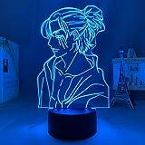 Figura de Anime Light Attack on Titan 4 Eren Yeager,decoración de dormitorio,luz nocturna,regalo de cumpleaños para niños,lámpara Shingeki No Kyojin 3d