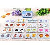 sahnah Universal Children Cognitive Card With Iron Carry Box Baby Learning Card