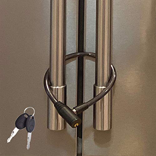 Urban August Fridge Lock: Multi-Functional Cable Keyed Lock, for French-Door Refrigerators and Cabinets (One Pack)