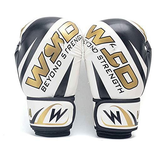 JJEB Neue Männer Boxhandschuhe Frauen Skorpion Muster Muay Thai Handschuhe Kickboxen Sanda Trainingshandschuhe 6 Unzen / 10 Unzen / 12 Unzen,White,12OZ