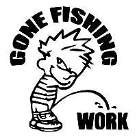 釣りステッカー■Gone Fishing Boy【男の子バージョン】カッティングタイプ 防水ステッカー【16色選択】ゴーンフィッシング シール 爆釣り