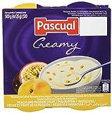 Pascual Yogur Cremoso Sabor Melocotón y Maracuyá - 6 Paquetes de 4 x 125 gr - Total: 3 kg