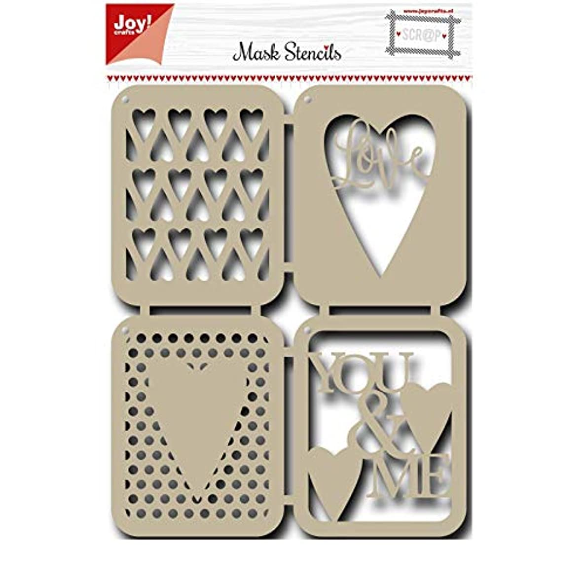 Joy!Crafts Love Design Mask Stencil, Metal, Grey, One Size