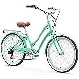 sixthreezero EVRYjourney Women's 7-Speed Step-Through Hybrid Cruiser Bicycle, 26' Wheels with 17.5'...