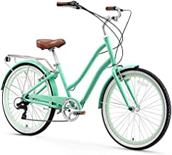 sixthreezero EVRYjourney Women's 7-Speed Step-Through Hybrid Cruiser Bicycle, 26