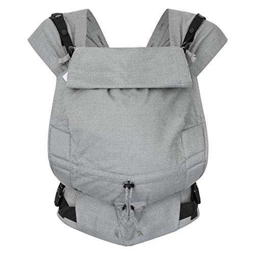 Hoppediz Primeo Full-Buckle Babytrage ✓ ab Geburt ✓ Bauchtrage ✓ Rückentrage ✓ verstellbarer Steg ✓ 100% Bio-Baumwolle | Design Kos