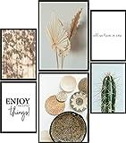 Papierschmiede® Premium Poster Set Little Boho Things | 6