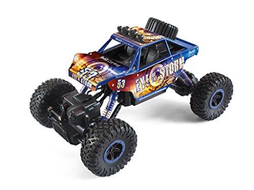 RC Auto kaufen Crawler Bild 3: Revell Control Technik 24712 RC Car, Konstruktionsbausatz Crawler, 2.4GHz, 4WD Allradantrieb, Off-Road-Reifen, Do-It-Yourself, ferngesteuertes Auto zum Selberbauen, blau, 27,5 cm*