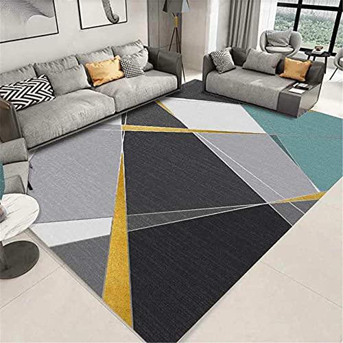 WCCCW Multicolor Combinación Patrón Geométrico Geométrico Impresión de Alta definición Salida Dormitorio Corredor Casero Decoración Alfombra-40x60cm para el salón fácil de Limpiar Igual Que la Foto