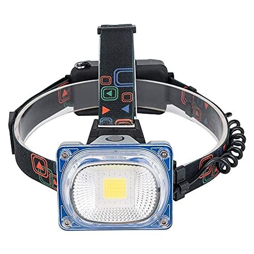 markc Faros delanteros LED con iluminación de área amplia, Faros delanteros LED fuertes de aleación de aluminio de alta potencia, 3 modos, Faros delanteros portátiles, Linternas impermeables, Adecuado