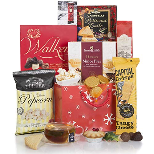 A Little Taste of Christmas Hamper - Xmas Hampers and Festive Gift Baskets for Her - Christmas Food Goodies in A Great Red Gift Bag…