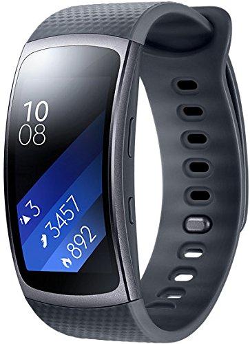 Samsung Gear Fit II 1,5 Zoll Smartwatch mit Herzfrequenz und Benachrichtigungen, L, Schwarz