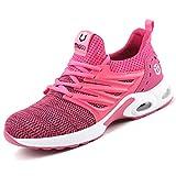 Zapatos de Seguridad para Hombre Zapatillas Deportivas de Mujer Puntera de Acero Calzado de Industrial Trabajo Construcción Botas Tácticas Trekking H Rosa EU39