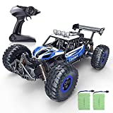RC Car, SPESXFUN 2020 Newest 1:14 Scale High Speed Remote Control Car, 2.4Ghz Off Road RC Trucks with Two Rechargeable Batteries, Electric Toy Car for All Adults & Kids (Blue)