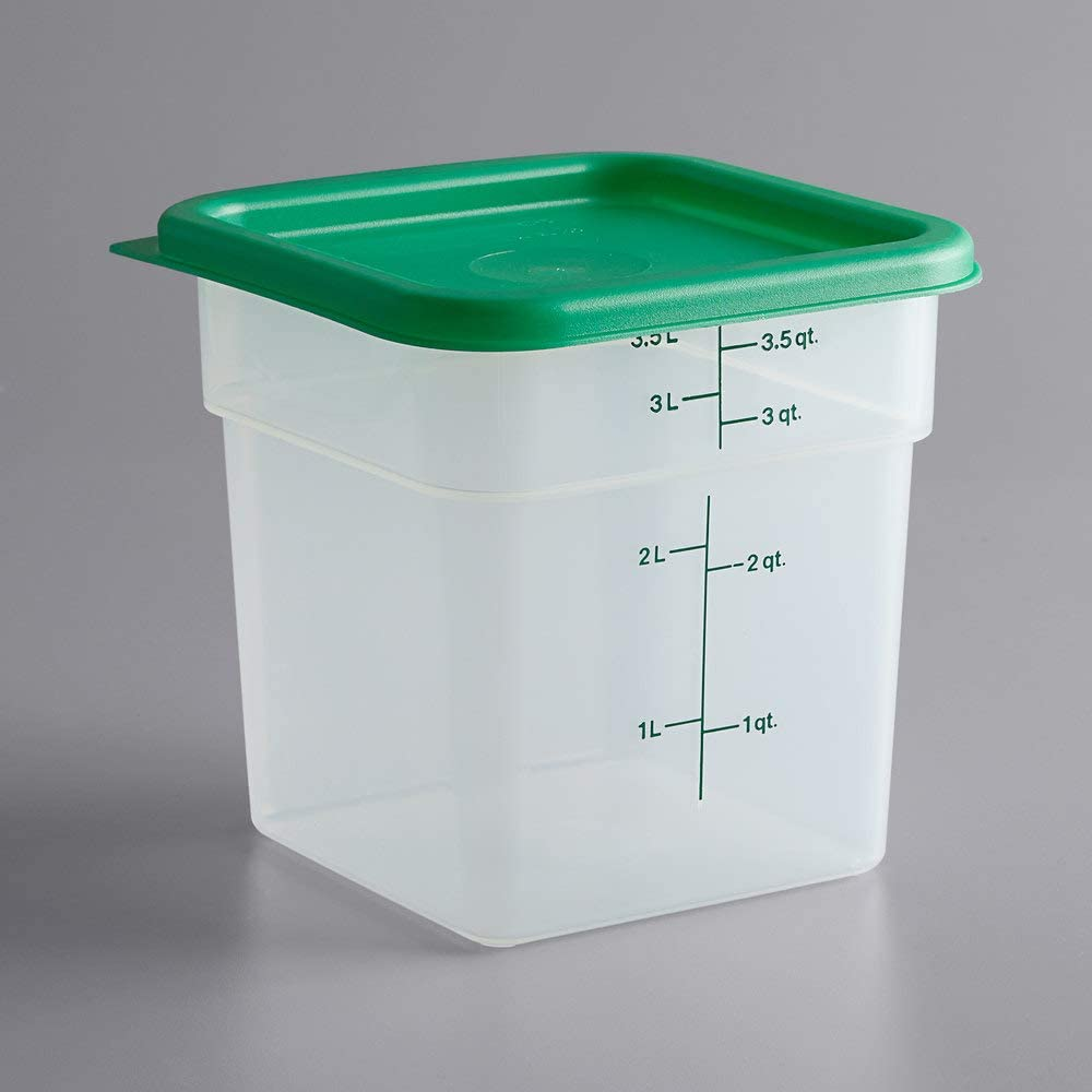 4 Finally popular brand Qt. Translucent High order Square Food with Green Grada Storage Container