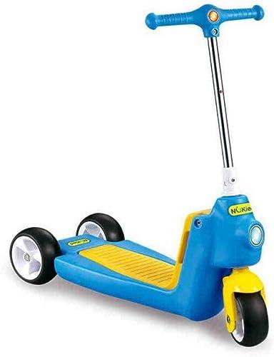 KTYXGKL Kinder Roller 3 Runden Froschkarren dreir iges fürrad Baby Roller Riemenscheibe Auto Kinderspielzeug, 62,5x25,5x66cm Kinder Roller (Farbe   Blau)