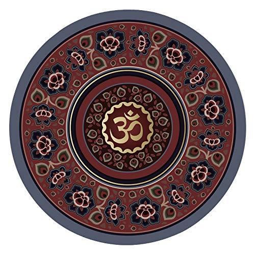 DZX Meditatiemat/draagbare yogamat, antislip natuurrubbermat, voor mannen en vrouwen, perfect gespiritueel geschenk (60 x 60 cm) D