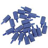 Pssopp 20 unids Acuario Piedra de Aire Azul Arenisca Burbuja Piedra Conjunto Cilindro Forma Aire Piedra Kit Tanque de Peces Oxígeno Piedra Airstones Difusor Acuario Bomba de Aire Accesorios