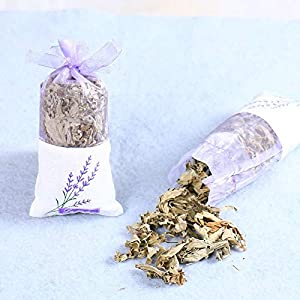Artificial and Dried Flower Natural Rose Flowers Jasmine Lavender Bud Dried Flower Sachet Bag Wardrobe Desiccant Sachet car Room Air Refreshing