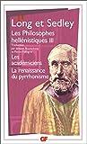 Les philosophes hellénistiques, tome 3 - Les Académiciens ; La renaissance du pyrrhonisme - Flammarion - 17/04/2001