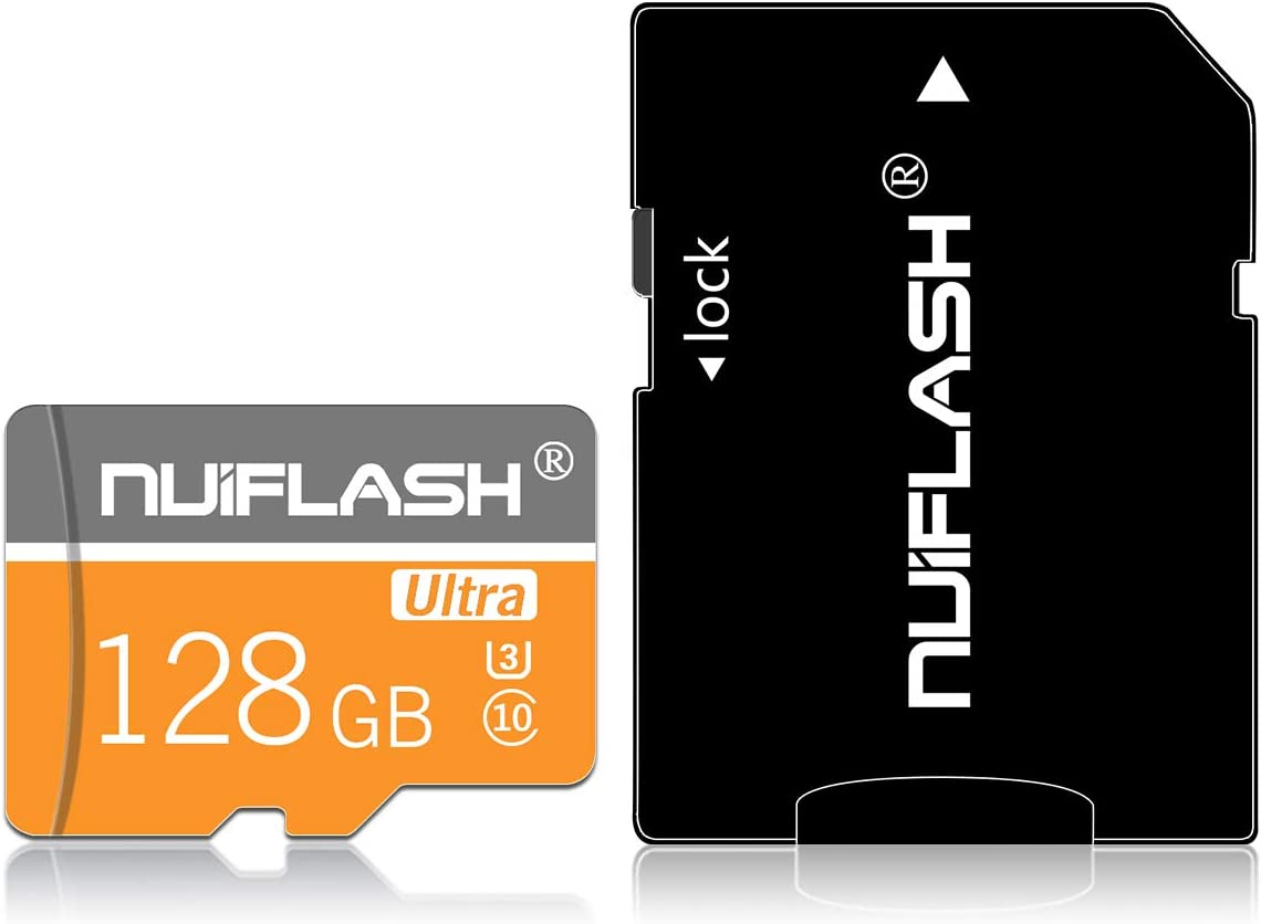 128gb Micro Memory Card (Class 10 High Speed) Memory Card/TF Card with Adapter for Camera, Phone, Computer, Surveillance,Drone…