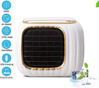 Ldoons Aire Acondicionado Pequeño, Aire Acondicionado Portatil Silencio, Mini Air Cooler, 4 en 1 Enfriador de Aire, Ventilador, 3 Velocidades, para el Hogar y la Oficina