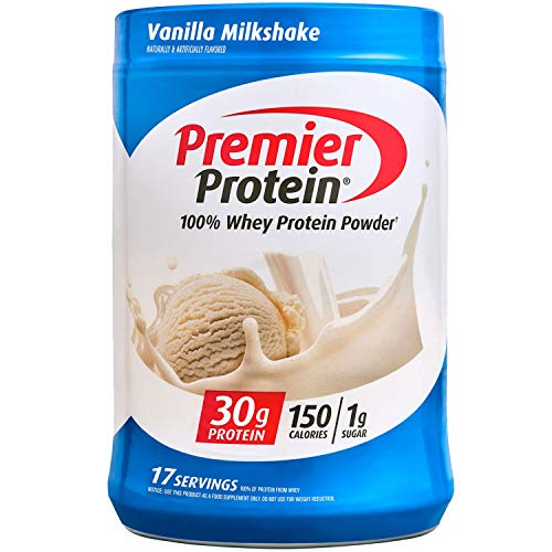 Premier Protein Whey Protein Powder, Vanilla, Packaging may Vary (17 Servings), 23.3 oz.