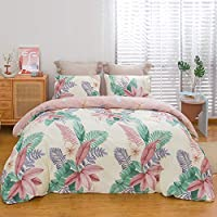 ViViTOP Flower Duvet Cover Set with 2 Pillowcases (Full/Queen)