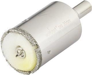 Wolfcraft 631699000 5926000-1 Sierra de Corona Diamant Ceramic con Broca de centrado, vástago 10 mm, Profundidad de Corte 45 mm diam. 35 mm, Acero inoxidable, 10mm