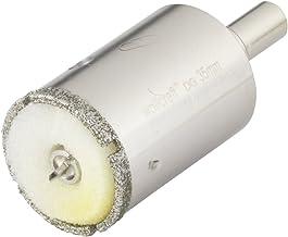 Wolfcraft 5926000 1 Diamant-Lochsäge Ceramic mit Schwamm, 10 mm Schaft Durchmesser 35 Silber