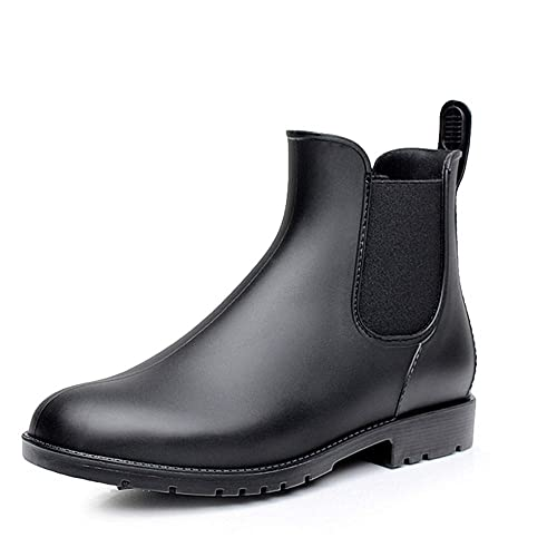 2f90b1f8a643 NEOKER Chelsea Wellington Boots Womens Mens Non-Slip Short Wellies Shoes  Ankle Rain Boot Ladies