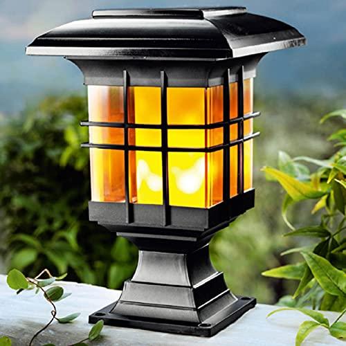 SDFLKAE Solar-Pfostenleuchten Außenbeleuchtung, Deck-Zaun-Pfosten-Kappe, LED-Leuchten für Dock Garten Terrasse Haustür Dekoration (Größe: B)
