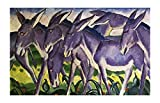 Friso de burro de Franz Marc Cuadros Decoracion Salon Cuadros Para Dormitorios Modernos Lienzos Decorativos Cuadros Para Cabeceros De Cama (40x65cm (15.7x25.6in), Sin Marco)
