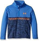 Under Armour Boys' Toddler 1/4 Zip Long Sleeve Top, Powderkeg Blue F191, 2T