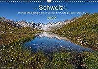 Schweiz - Impressionen der idyllischen Bergwelt im Laufe der Jahreszeiten (Wandkalender 2022 DIN A3 quer): Eine Reise durch die vielseitige Schweiz in 12 Monaten (Monatskalender, 14 Seiten )